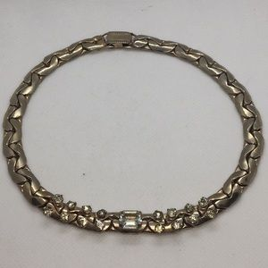 Vintage Rhinestone Necklace 15""